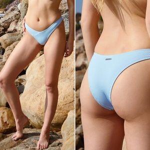Body Glove Dana Ibiza Blue Ribbed Bikini Bottoms L
